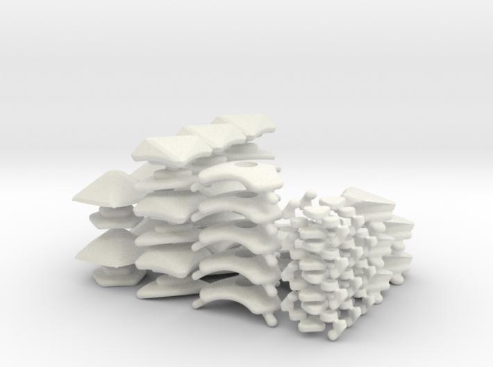 Icosaix - set 2 - 3x 3d printed