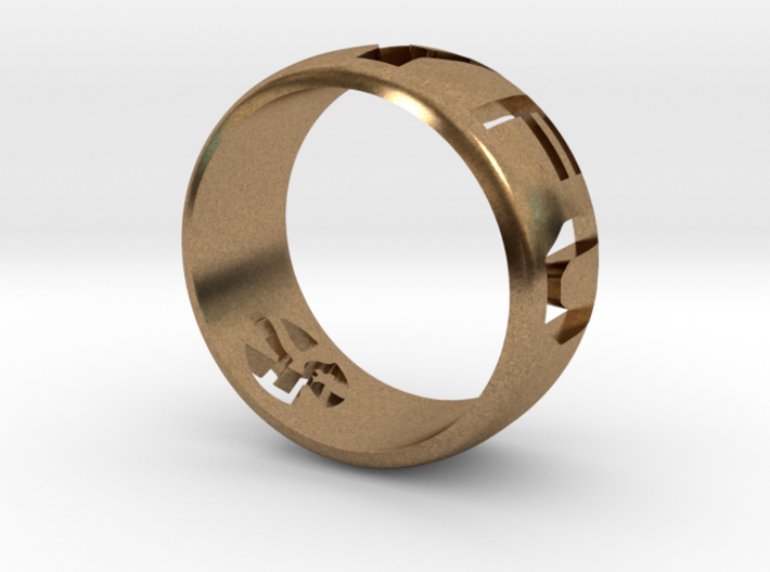 YFU Ring Cut Out (Size 7 / 17.3mm) 3d printed