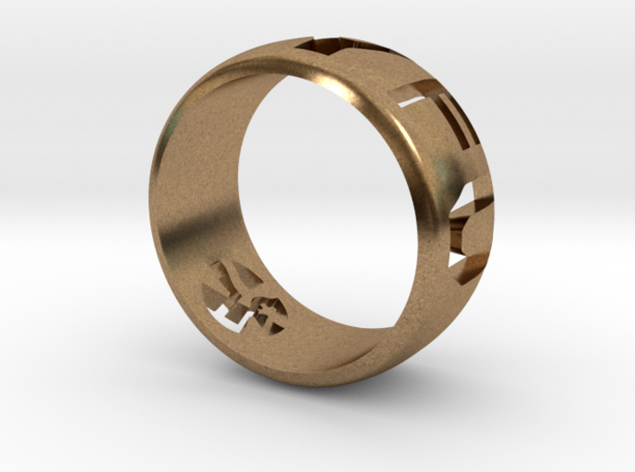 YFU Ring Cut Out (Size 6 / 16.5mm) 3d printed