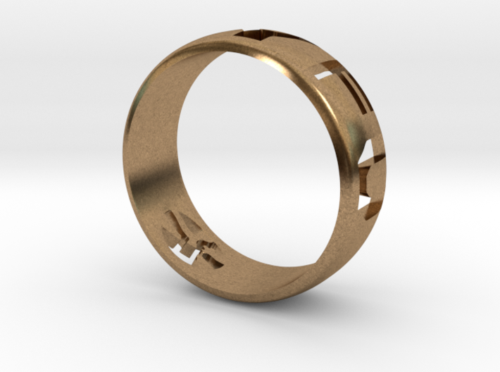 YFU Ring Cut Out (Size 13 / 22.2mm) 3d printed