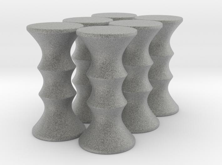 Hyperboloid Burr V1c - Alumide 3d printed