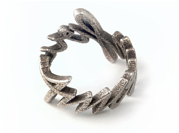 Amour Fou Ring (US Size 9) 3d printed Stainless Steel