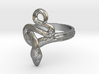 Covetous Silver Serpent Ring, Size 5.25 3d printed
