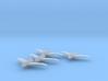 Northrop XP-56 1:200 x4 FUD 3d printed