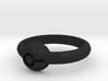 Pokeball Ring - Thin Band (Size 6) 3d printed