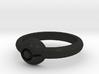 Pokeball Ring - Thin Band (Size 9 1/2) 3d printed