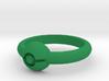 Pokeball Ring - Thin Band (Size 9) 3d printed