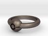 Pokeball Ring - Thin Band (Size 10) 3d printed