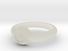 Pokeball Ring - Thin Band (Size 11) 3d printed