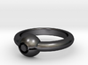 Pokeball Ring - Thin Band (Size 7) 3d printed