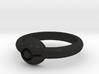 Pokeball Ring - Thin Band (Size 10 1/2) 3d printed