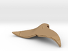 """""""Whale tail"""" pendant (Silver, Brass, Bronze) 3d printed"""