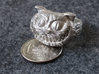 Cheshire Cat - Size 13 3d printed Raw Silver - No Glossy - No Patina