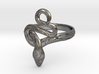 Covetous Silver Serpent Ring, Size 10 3d printed