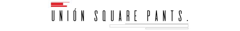 Unión Square Pants. Shop Banner
